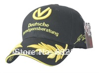 Free shippingMichael schumacher signed seven crown grain embroidery car team motorcycle  baseball football adjustable hat cap