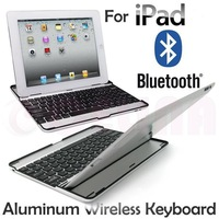 Aluminum Bluetooth Keyboard Stand Holder Case For iPad 2 3 4,Black,Free Shipping+Tracking