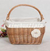 Rustic willow storage basketgift fruit basket picnic basket
