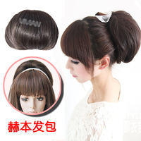 Free shipping Evidenced wig girls head wig involucres hair wig maker costume meatball head wig bag
