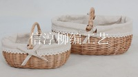 wicker storage fruit flower picnic basket