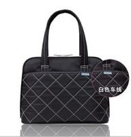 2014 Top Sale Women Solid Business Laptop Messenger Zipper Laptop Bag Protective Case 12 14 Women's Handbag One Shoulder Female