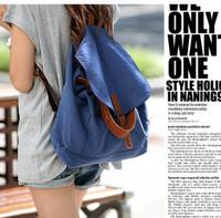 NEW Canvas back double-shoulder one shoulder casual school bag multi-purpose bag