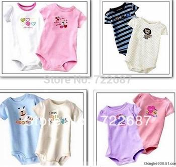 5pcs per lot Baby Boy&Girl's Short Sleeve Rompers Carter Animal Romper Free Shiping