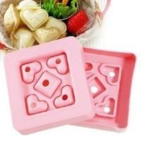 Love DIY Breakfast Sandwich Mould Heart Mini Toast Bread Love Bento Tool