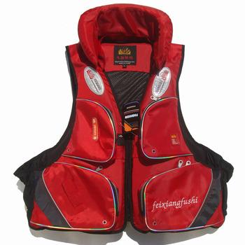 Swimwear fishing vest fishing life vest life jacket red belt