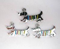 50pcs 28x12mm alloy dog Hang Pendant Charm HC093