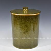 Achievo jingdezhen ceramic tea dust glaze migang water tank jar Large storage tank tea caddy pickles cylinder