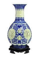 Achievo antique ceramic cutout flower vase traditional classical home decoration crafts