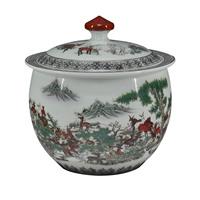 Achievo jingdezhen ceramic tea caddy storage tank snack cans home decoration vase