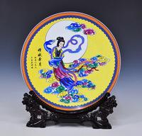 Achievo furnishings luminous porcelain plate decoration home living room decoration crafts