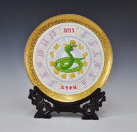 Achievo crafts decoration 2013 calendar plate decoration plate home decoration