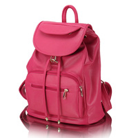 Girls 2013 backpack female double-shoulder fashion leather outdoor travel bag