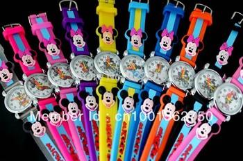 mickey items Wholesales NEW Cartoon watch Children Watch 10pcs/lot&Good Gift kids watch items