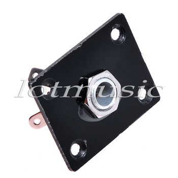 Black High Quality Rectangle Output Jack Plate for Electric Guitar 36X28MM Nice Quality guitar parts