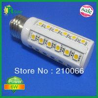 6pcs/lot Free shipping 6W 36 LED Corn Light Bulb E27/E14 LED Lighting  648-720 Lumens Nature/Cool White Light 220V 360 Degree