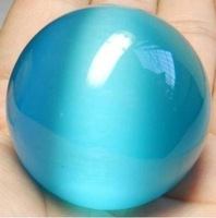 60mm Blue Green Mexican Opal Sphere,Crystal Ball Gemstone +Stand A34