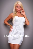 2013 Women Plus Size Fashion Sexy One-piece Dress Sleeveless Evening Sexy Dress Free Shipping