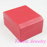 Free Shipping 5 Red Plastic Watch Box Case TVI-RYWB-04