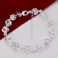 Free shipping wholesale white checkered bracelet 2013  new  jewelry