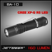 Free shipping JETBeam BA10 Cree XP-G R5 2 Modes AA Flashlight 160 Lumen Torch