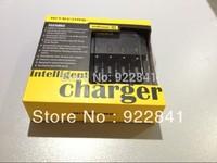 Free Shipping + 10PCS Nitecore I4 Charger for 18650 16340 26650 10440 AA AAA 14500 Battery Charger Nitecore Battery Charger
