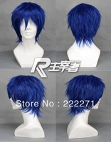 FREE SHIPPING Anime Short VOCALOID KAITO Blue Starry Sky Mizushima Iku Cosplay Costume Wig Heat Resistant