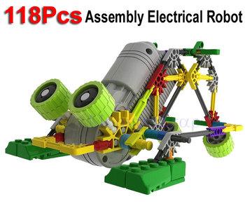 118Pcs Little Size  LOZ Electrical Robot Puzzle Assembly Bricks DIY Toy For Kids Children