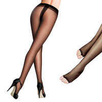 free shipping 5pcs  ultra-thin transparent open toe stockings open toe socks footless socks pantyhose