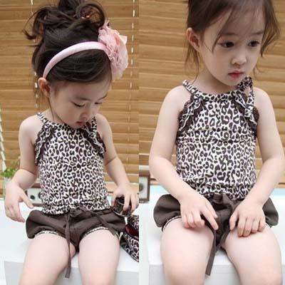 Комплект одежды для девочек Baby girls leopard clothes suits 5sets/+ ZZ0476 kids children summer clothing sets