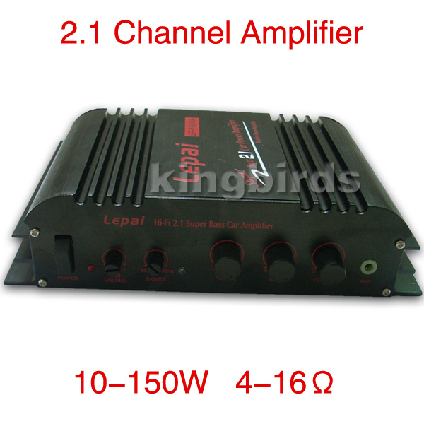 HIFI stereo 2.1 Channel Multifunction car power Amplifier super Bass 2.1 mosfet Car Power Amplifier 40W*2+68W*1 Push subwoofer(China (Mainland))
