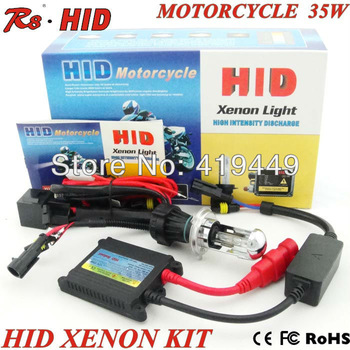 H4 H/L telescopic  xenon lamp motorcycle HID kit headlamp slim ballast DC 12V/35W all colors