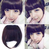 EleDigit Wig fringe female invisible seamless false fringe hand knotted fringe Free shipping 2 pcs/lot