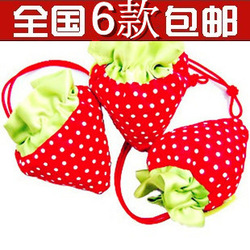 Fashion strawberry shopping bag storage bag eco-friendly bag home department store(China (Mainland))