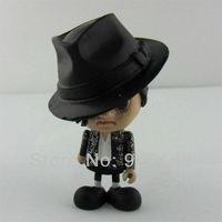 "Free shipping 1pcs Michael Jackson MJ Billie Jean Cute Figure Dolll 3"""