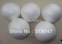 Free shipping  8cm natural white styrofoam round balls Craft foam ball diy handmade painted ball (12pcs/lot) 041005(3)