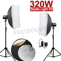 HOT GODOX 320Ws 2X160Ws 160DI Studio Strobe Flash Light with Softbox 320W Kit