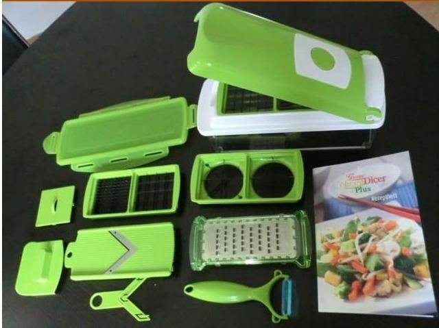 free shipping Easy Vegetable Fruit Nicer Dicer Slicer Cutter Plus Container Chopper Peeler Hot sale(China (Mainland))
