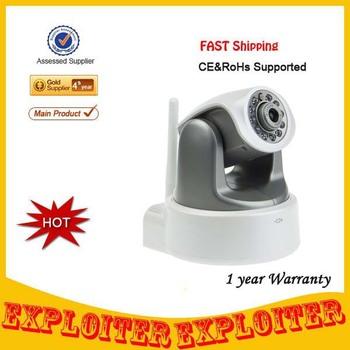 HD Mega Pixel H.264 720P IR_CUT/WPS Wireless IP Network Surveillance Camera w/ 11 LED 10m Night Vision/ SD/RJ45/AUDIO