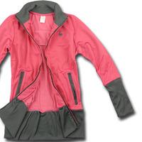 2013 Free Shipping Original Female zipper stand collar slim hip long design casual sports outerwear jacket aa2-c760