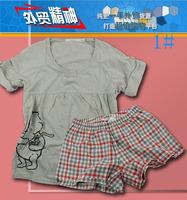 Comfortable Women at home clothes summer shorts short-sleeve T-shirt dd3-c487 sleep set