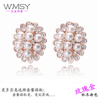 Hot-selling All-match Fashion Big Pearl Earrings OL Elegant Female Earrings Ornament