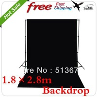 Photo lighting studio Chromakey black screen Muslin background backdrop 1.8X2.8M