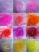 Free Shipping Snow Organza Wedding Decor Crystal Organza Fabric Chair Sashes 150cm width, 20meters/lot