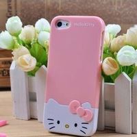 High Quality Hello Kitty Plastic Hard Skin Back Case Cover For iPhone5, Cartoon Case for iPhone 5 5g 10pcs/Lot