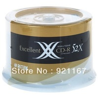 Free shipping,High quality record disk,700M, RITEK X series CD-R Recordable,CHINA Top,  CD 52X ,1case of 50 CDs