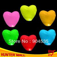 Free Shipping  Mixed Colors Heart Shape Sky lantern chinese paper lantern 12pcs/lot