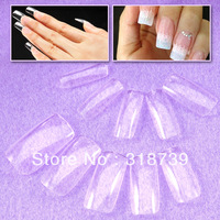 Free shipping, 100 pcs/box transparent false nail, fashion false nail patch ,