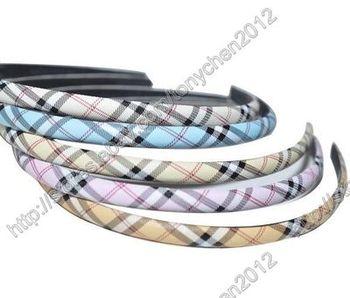 12MM Wholesale Lot Plastic Headband Check Print Hairband 30PCS