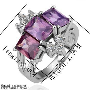 Wholesale - Valentine's Day gift fine ring independent fashion gem crystal jewelry box PP bag optional 10 Piece(China (Mainland))
